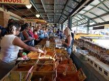 La gente elige el condimento en el mercado Kansas Missouri del granjero fotografía de archivo libre de regalías