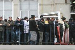 La gente está esperando para votar Fotografía de archivo libre de regalías