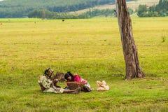 La gente in Etiopia Immagini Stock