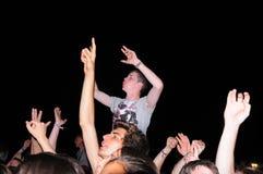 La gente (fan) al festival 2013 FIB (Festival Internacional de Benicassim) Fotografia Stock