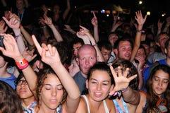 La gente (fan) al festival 2013 FIB (Festival Internacional de Benicassim) Immagine Stock Libera da Diritti