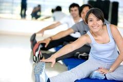 La gente a ginnastica Fotografia Stock