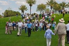 La gente a golf aperto Fotografia Stock Libera da Diritti