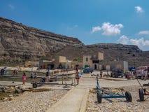 La gente in Gozo in un giorno di estate fotografia stock libera da diritti