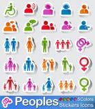 La gente icona e bottoni Fotografia Stock Libera da Diritti