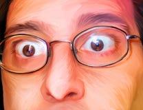 La gente ilustró 004: Sorpresa stock de ilustración