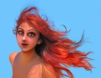 La gente ilustró 005: Rojo ilustración del vector