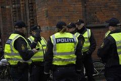 La gente incatena per gli ebrei in Danimarca Immagini Stock