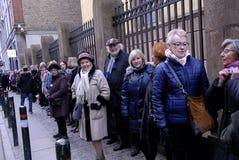 La gente incatena per gli ebrei in Danimarca Fotografia Stock Libera da Diritti