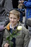 La gente incatena per gli ebrei in Danimarca Fotografie Stock