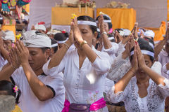 La gente indonesia celebra Año Nuevo del Balinese Fotografía de archivo libre de regalías