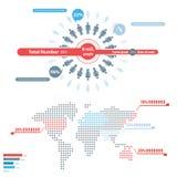 La gente Infographic Fotografie Stock Libere da Diritti