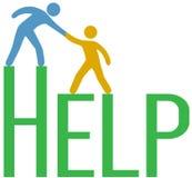La gente intensifica respuesta de la ayuda de la ayuda del hallazgo libre illustration