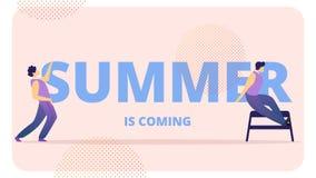 La gente joven celebra el verano que viene, baile libre illustration