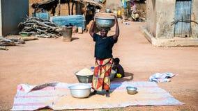 La gente in Kara, TOGO Fotografia Stock Libera da Diritti