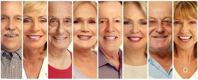 La gente mayor hace frente a la colección Fotos de archivo libres de regalías