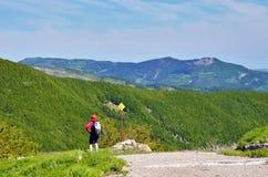 La gente in montagna Fotografie Stock