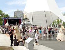 la gente Montreal del centro immagini stock libere da diritti