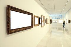 La gente in museo Fotografia Stock Libera da Diritti