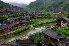 La gente nacional de la minoría de Miao vive lugar Foto de archivo libre de regalías