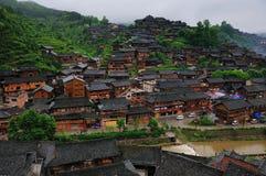 La gente nacional de la minoría de Miao vive lugar Imagen de archivo libre de regalías