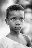 La gente nel Benin, in bianco e nero Fotografie Stock