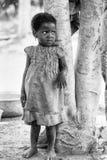 La gente nel Benin, in bianco e nero Fotografia Stock Libera da Diritti