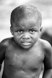 La gente nel Benin, in bianco e nero Immagine Stock Libera da Diritti