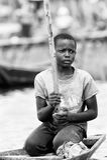 La gente nel Benin, in bianco e nero Immagini Stock Libere da Diritti
