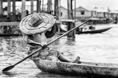 La gente nel Benin, in bianco e nero Immagini Stock
