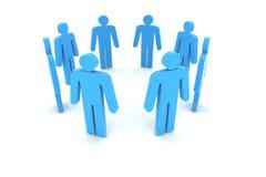La gente nel cerchio Fotografia Stock