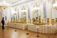La gente nel Museo dell'Ermitage dello stato, St Petersburg, Russia Immagine Stock Libera da Diritti