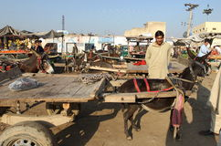 La gente nel Pakistan Fotografie Stock