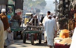 La gente nel Pakistan - una vita quotidiana Fotografia Stock