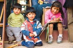 La gente nel Perù Fotografie Stock Libere da Diritti