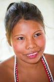 La gente nel VILLAGGIO di EMBERA, PANAMA Fotografie Stock Libere da Diritti