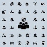 la gente nell'ambito dello shieldicon Insieme universale delle icone di assicurazione per il web ed il cellulare royalty illustrazione gratis