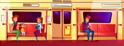 La gente nell'illustrazione di vettore della metropolitana illustrazione vettoriale