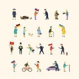La gente nella città illustrazione di stock