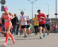 La gente nella maratona Fotografia Stock