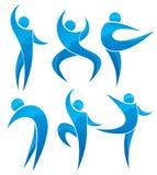 La gente nella posa di balletto Immagine Stock Libera da Diritti
