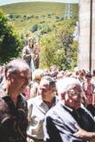La gente nella processione, pellegrinaggio Fotografia Stock