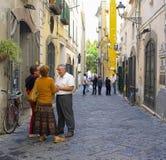 La gente nelle vie, Salerno Italia Fotografie Stock Libere da Diritti