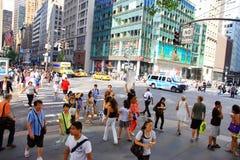 La gente a New York Immagini Stock