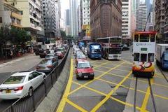 La gente non identificata viaggia usando il vario tipo di trasporto del pubblico Fotografia Stock Libera da Diritti