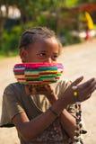 La gente in OMO, ETIOPIA fotografie stock libere da diritti