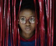 La gente Person Having Fun Eyeglasses fotografia stock libera da diritti