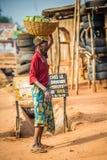 La gente in PORTO-NOVO, BENIN Fotografie Stock Libere da Diritti