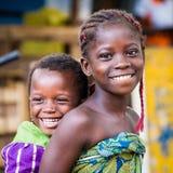 La gente in PORTO-NOVO, BENIN Immagini Stock Libere da Diritti