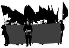 La gente quattro di anarchia Fotografia Stock